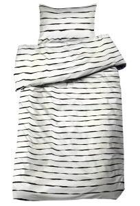 Bäddset Twist, tuff rand, färg vit/svart