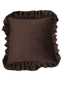 Kuddfodral Velvet, brun