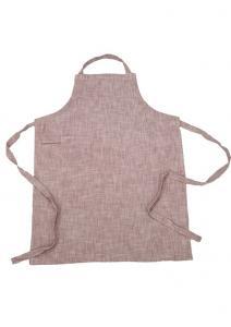 Förkläde Visby, enzymtvättad bomull, med ficka och ögla på ena sidan, ljung