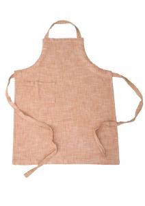 Förkläde Visby, enzymtvättad bomull, med ficka och ögla på ena sidan, peach