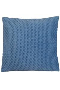 Kuddfodral Wavy från Redlunds, sammet med quiltad framsida och slät baksida, ljusblå.