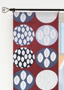 Panellängd, 2-pack. Winterleaf. Stora cirklar fyllda med mindre löv, vinröd
