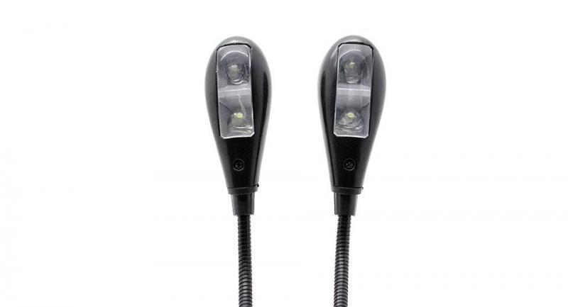 Klämlampa, dubbla LED-lampor