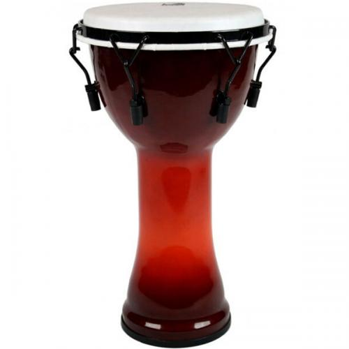 Djembe Freestyle II Mechanically Tuned African Sunset, Toca