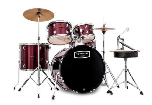 Mapex Tornado Fusion 5-trummors set - Vinröd