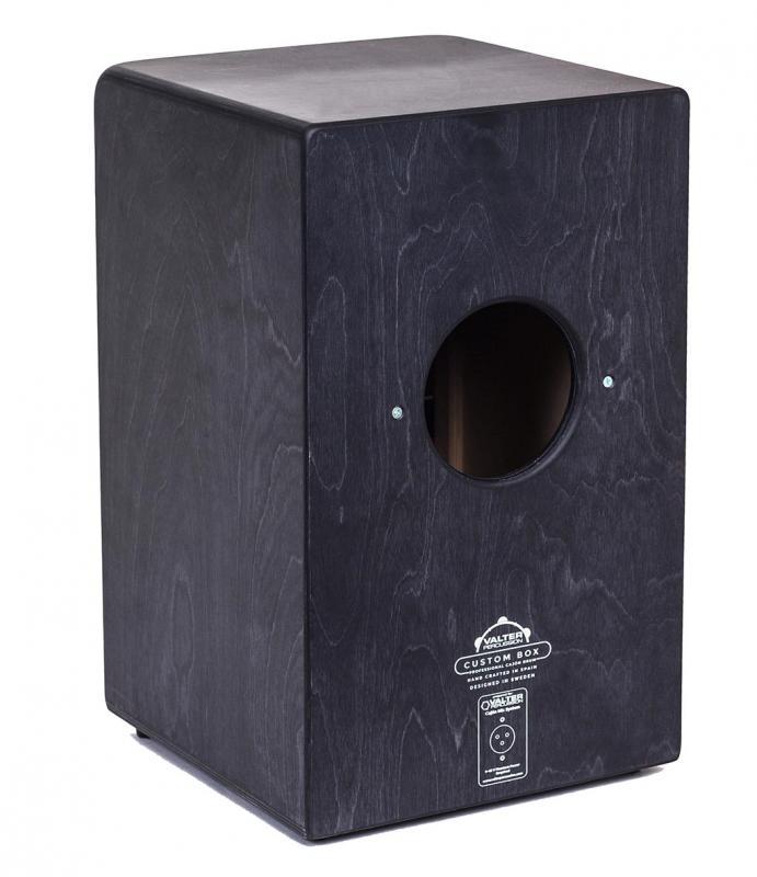 Custom Box Black med inbyggd mikrofon, Valter Percussion