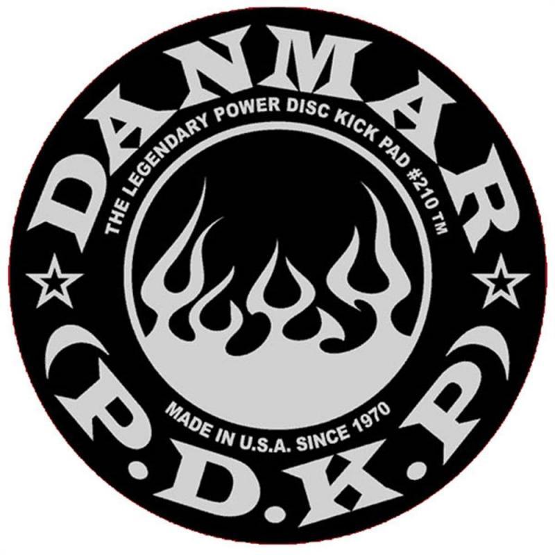 Danmar Percussion Power Kick Pad (Flame Black-White)