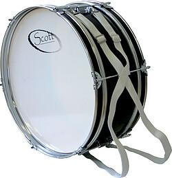 """Scott Marschbastrumma 24""""x12"""", Vit - Supportertrumma."""