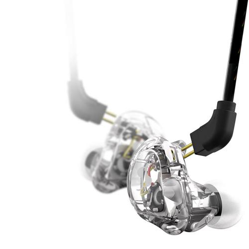 Stagg sound-isolating earphones, transparent
