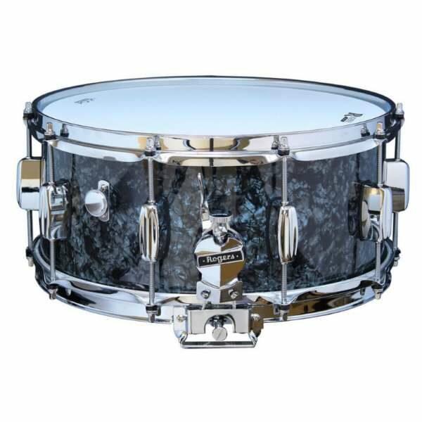 Rogers DynaSonic 14×6.5 Wood Shell Snare | B&B Lug – Black Diamond Pearl