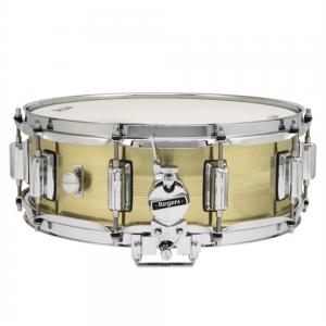 Rogers DynaSonic 7-line 14×5 Natural Brass Shell Snare