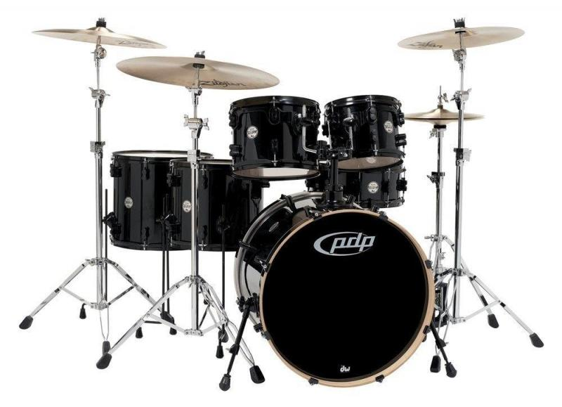 PDP by DW Drum set Concept Maple Ebony Stain