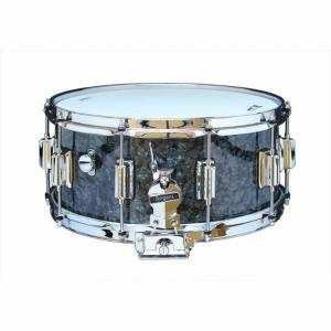 Rogers DynaSonic 14×6.5 Wood Shell Snare | Beavertail Lug – Black Diamond Pearl