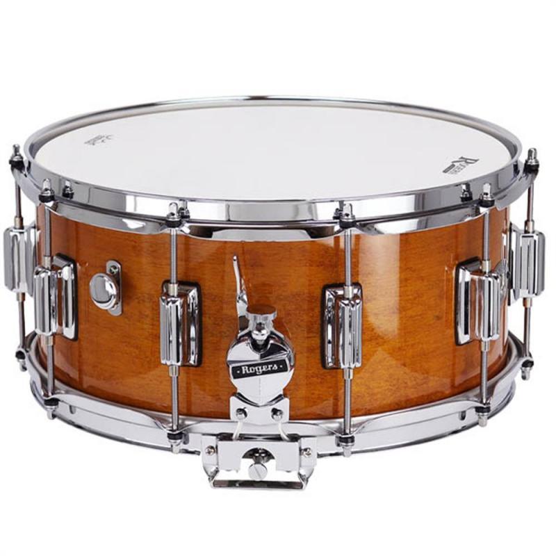 Rogers Dynasonic 14×6.5 Fruitwood Snare, Beavertail Lug