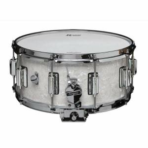 Rogers DynaSonic 14×6.5 Wood Shell Snare | Beavertail Lug – White Marine Pearl