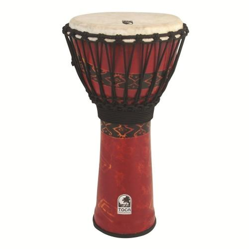Djembe Freestyle Rope Tuned Kente Cloth, Toca SFDJ-10K