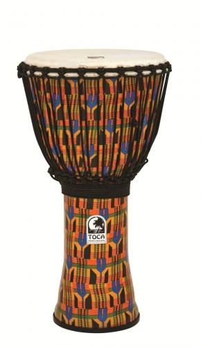 Djembe Freestyle Rope Tuned Kente Cloth, Toca SFDJ-12K