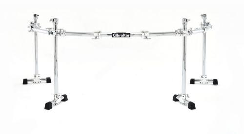 Rack System Chrome Series 4-pole böjt Rack, Gibraltar GCS-450C