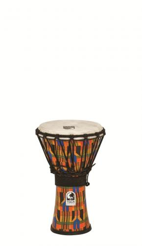 Djembe Freestyle Rope Tuned Kente Cloth, Toca SFDJ-7K
