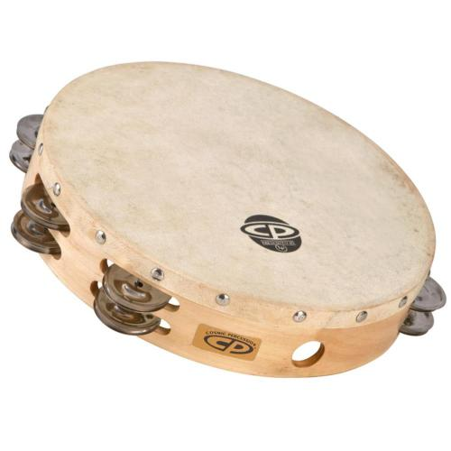 Latin Percussion Tambourine CP  Wood 10, double row, CP380