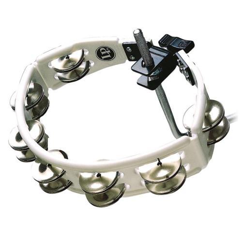 Latin Percussion Tambourine Cyclop mountable Steel Jingles, white, LP162