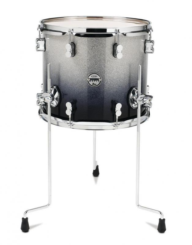 PDP by DW Floor Tom Concept Maple Satin Charcoal Burst