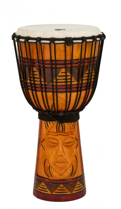 Djembe Origins Series African Mask, Toca TODJ-10AM