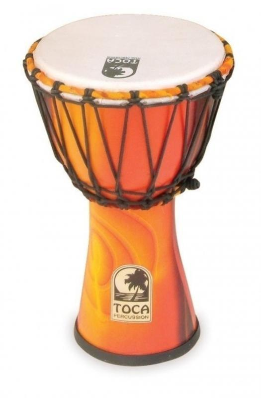Djembe Freestyle Rope Tuned African Sunset, Toca