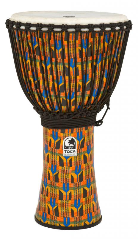 Djembe Freestyle Rope Tuned Black Mamba with Bag, Toca SFDJ-14BMB