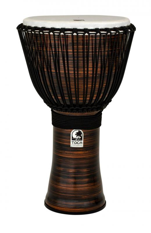 Djembe Freestyle II Rope Tuned Spun Copper with Bag, Toca TF2DJ-14SCB