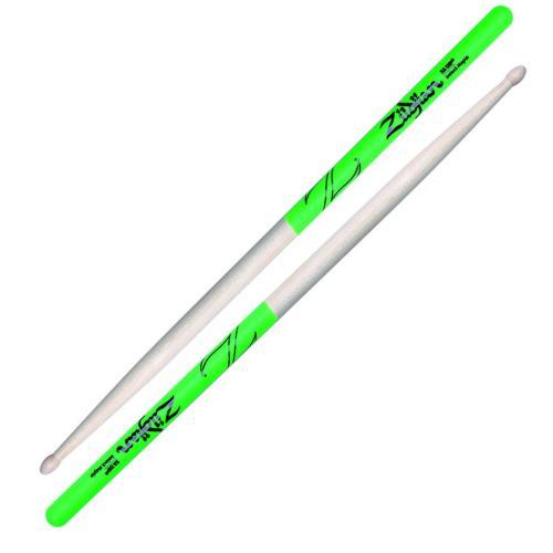 Zildjian 5A Green Dip Maple Drumsticks Wood Tip