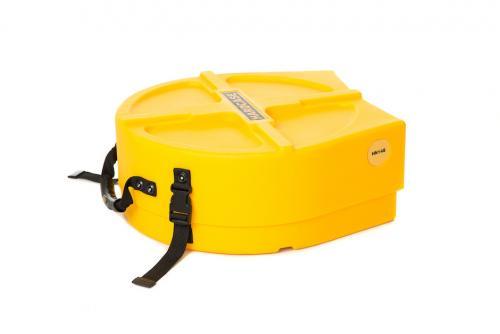 "Hardcase 14"" Snare Drum Case Yellow"