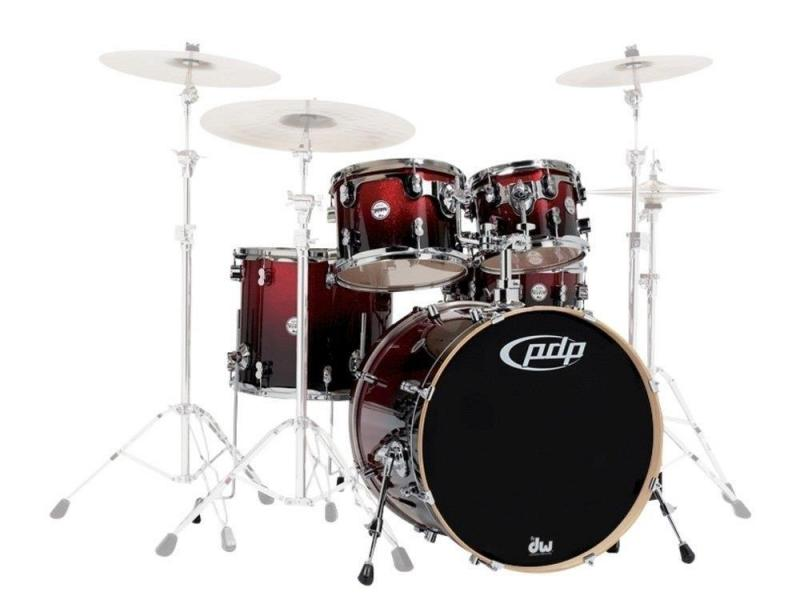 PDP by DW Shell set Concept Maple Ebony Stain