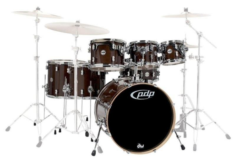 PDP by DW Shell set Concept Maple Satin Charcoal Burst