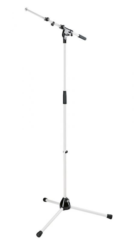 K&M 210/9W Microphone stand white