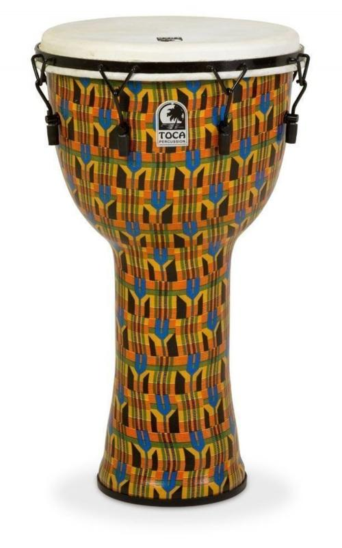 Djembe Freestyle Mechanically Tuned Antique Silver, Toca SFDMX-14ASB