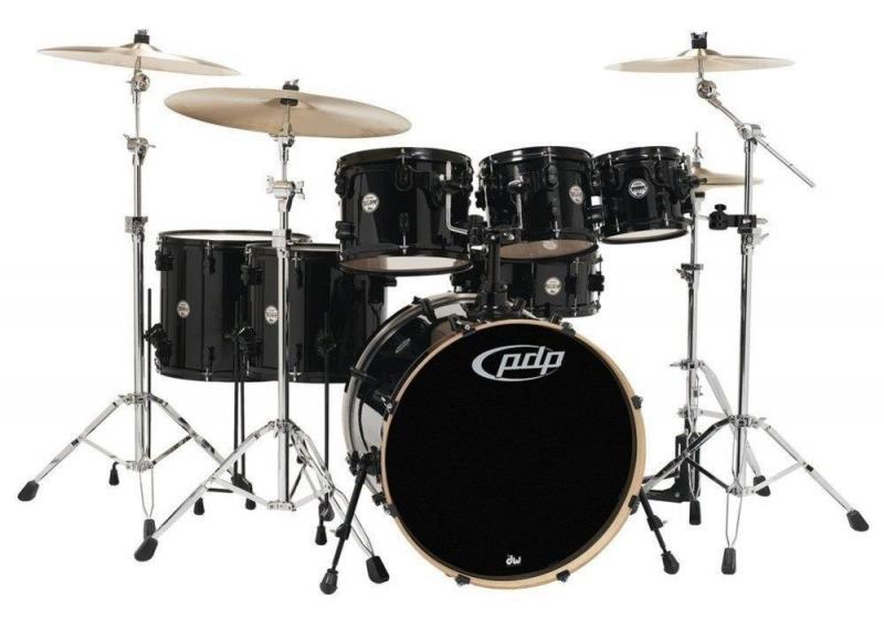 PDP by DW Drum set Concept Maple Satin Charcoal Burst