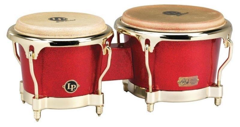 Latin Percussion Bongo Galaxy Fiberglass Fausto Cuevas III Signature , LP794V-ARG
