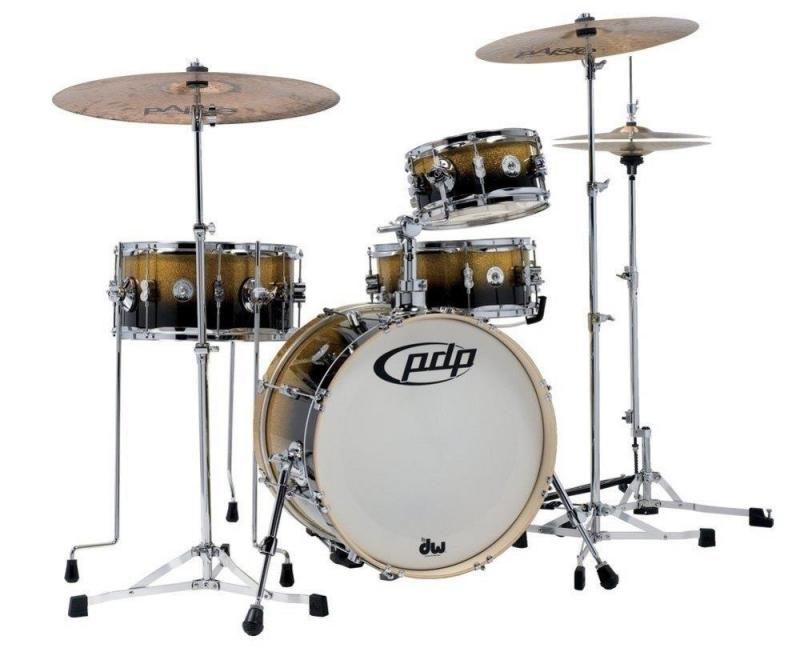 PDP by DW Shell set New Yorker Daru Jones Signature Yellow to Black Sparkle Fade