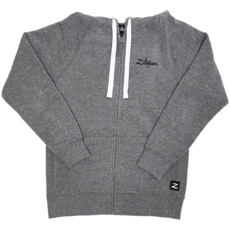 Zildjian Gray Zip-Up Hoodie - Large
