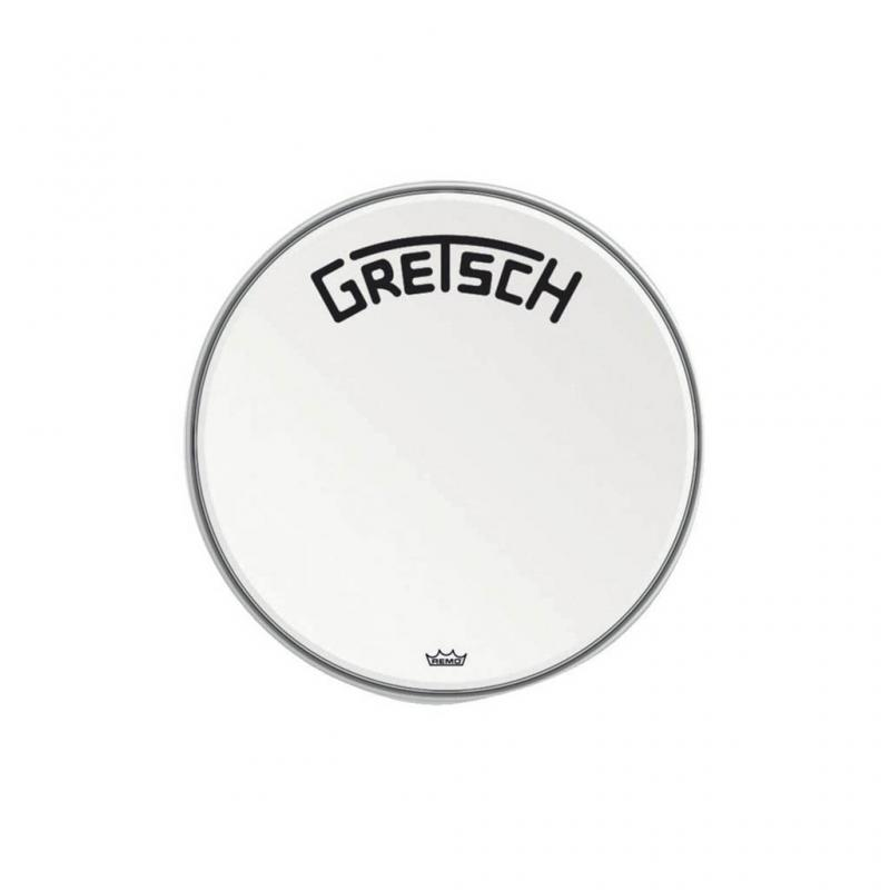 "Gretsch Bassdrum head Ambassador white coated, 18"""