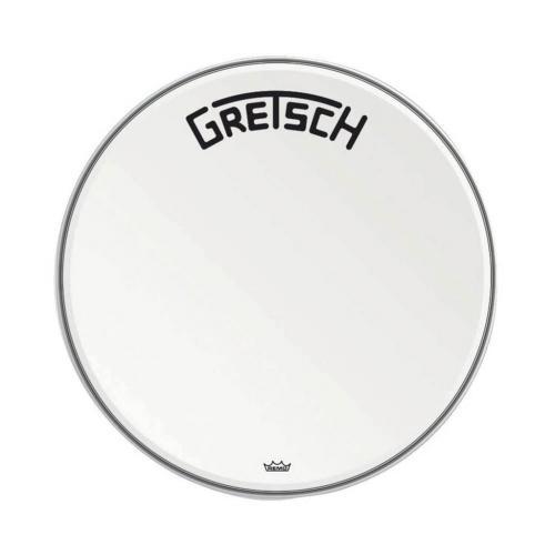 "Gretsch Bassdrum head Ambassador white coated, 24"""