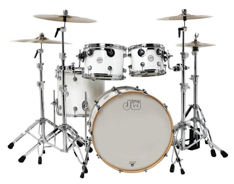 Drum Workshop Shell set Design, White Gloss
