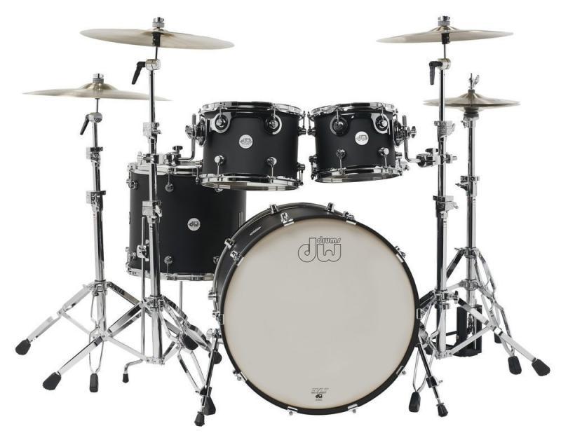 Drum Workshop Shell set Design, Black Satin