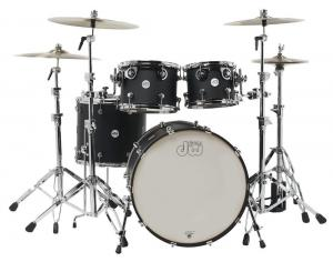 DW Drum Workshop Shell set Design, Black Satin