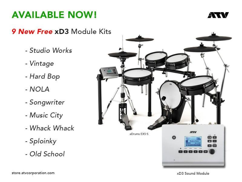 ATV har släppt gratis trumset till xD3