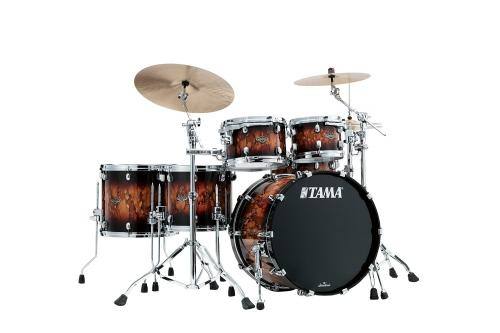 Starclassic Walnut/Birch 4-shellkit - WBS52RZS-MBR, lackerade i Molten Brown Burst finish