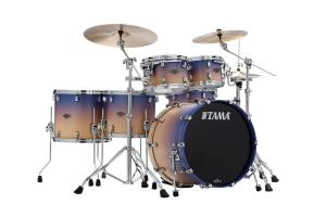 Starclassic Walnut/Birch 5-shellkit - WBS52RZS-SAF, lackerade i Satin Purple Atmosphere Fade Finish