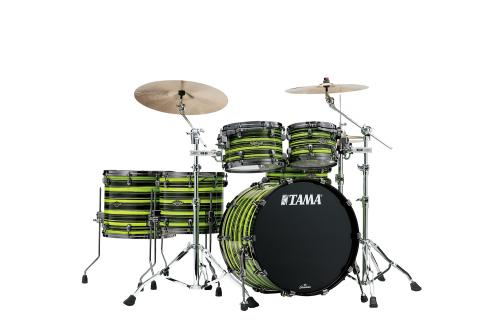 Starclassic Walnut/Birch 5-shellkit - WBS52RZBNS-NYO, lackerade i Neon Yellow Oyster Finish