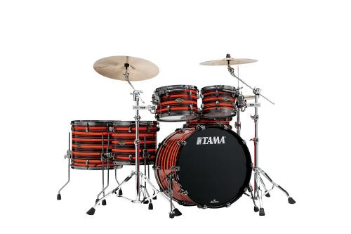 Starclassic Walnut/Birch 5-shellkit - WBS52RZBNS-NOO, lackerade i Neon Orange Oyster Finish